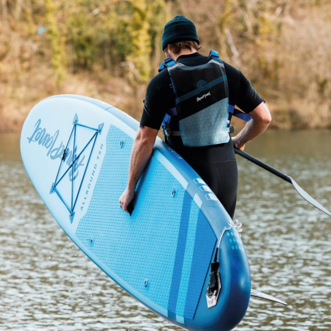 Aquaplanet ALLROUND TEN SUP Package | Stand Up Inflatable Paddle Board Kit | 10' Long