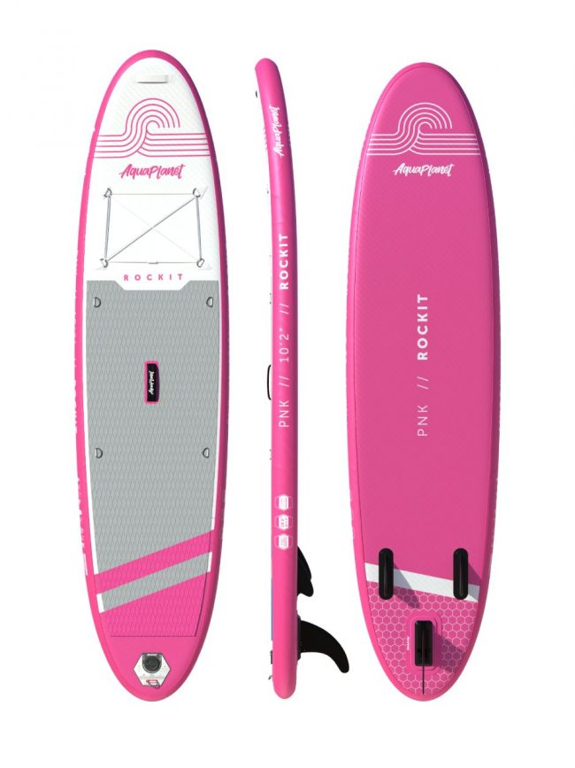 Aquaplanet ROCKIT SUP Package | Stand Up Inflatable Paddle Board Kit | 10′2″ Long
