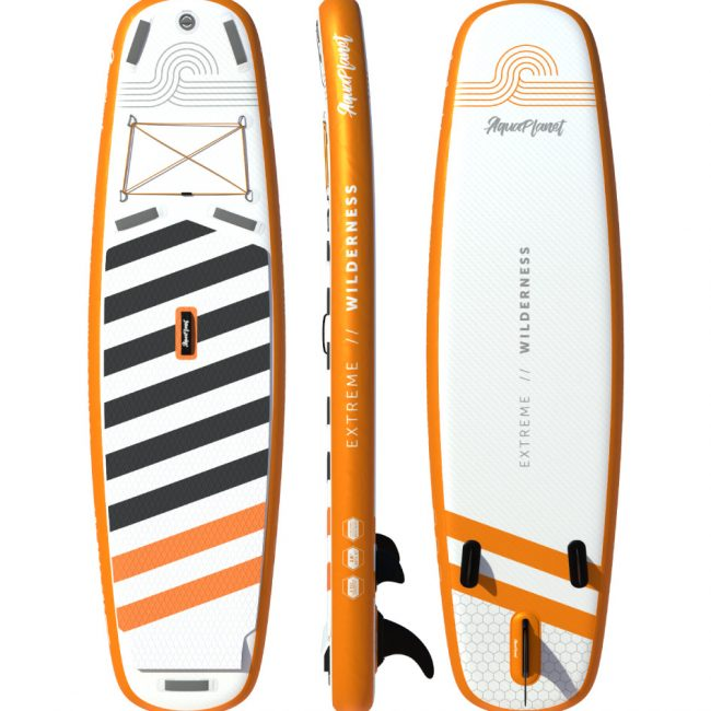 Aquaplanet WILDERNESS SUP Package   Stand Up Inflatable Paddle Board Kit   10' Long