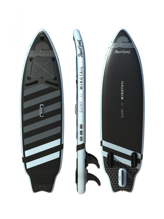 Aquaplanet WINGTAIL SUP Package   Stand Up Inflatable Paddle Board Kit   9' Long