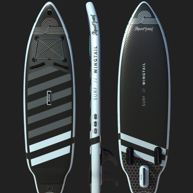 Aquaplanet WINGTAIL SUP Package | Stand Up Inflatable Paddle Board Kit | 9' Long