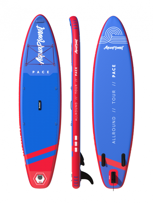 "Aquaplanet PACE SUP Package | Stand Up Inflatable Paddle Board Kit | 10'6"" Long"